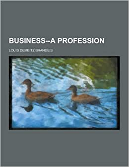 Business--A Profession