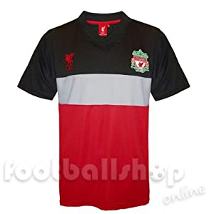Liverpool FC Mens Poly Panel Training Kit T-Shirt Carbon Large from Liverpool