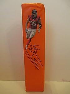 J.J. Watt Autographed Signed Houston Texans Custom Photo Full Size Logo Football End...