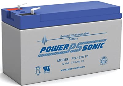 Power-sonic Ps-1270f1 - 12 Volt 7 Amp Hour Sealed Lead Acid Battery With 018 from Powersonic