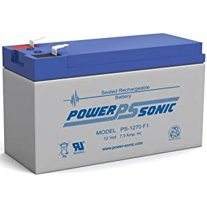 Battery on Rbc51 Werker Wka12 7 5 F2 Terminals 12v 7ah One Replacement Battery
