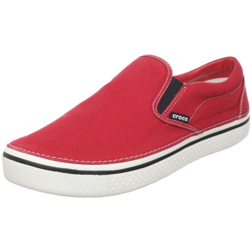 Crocs Unisex-Adult Hover Slip On Fashion Trainer True Red/White 11291-62M-740 13 UK