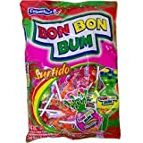 Assorted 24 Units/Bon Bon Bum Surtido Chupetas Rellenas De Chicle