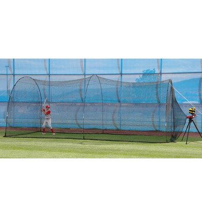 Heater Sports 20 ft. Slider Pitching Machine & PowerAlley Batting Cage Package (Batting Cage Package compare prices)