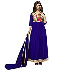 Neelkanth Women's Georgette Semi Stitched Dress Material (FB-6009_Multi-Coloured_Free Size)