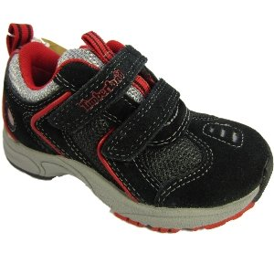 Timberland Small Boys Glow Step Velcro Trainer Shoe - Black