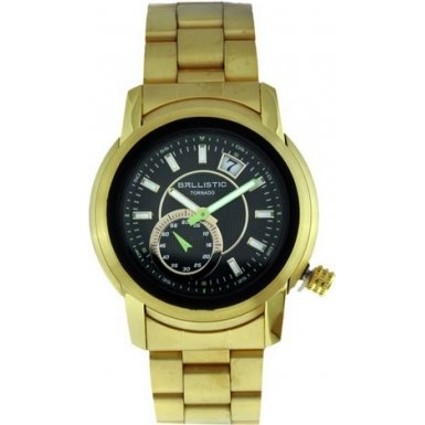 Ballistic Tornado Green Dial Gold Plated Steel Strap Watch