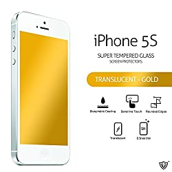MoArmouz - Luxurious Translucent Screen Protector For iPhone 5s, iPhone 5, iPhone 5c, iPhone SE - Tempered Glass Screen Protector, Screen Guard, Screen Protector Mobile Accessories / Screen Protectors / Mobiles & Tablets