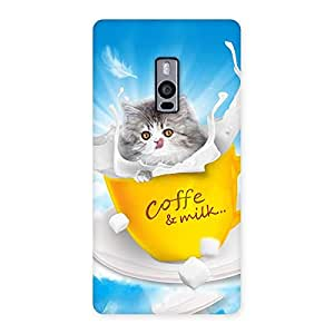 Gorgeous Kitty Coffee Multicolor Back Case Cover for OnePlus Two