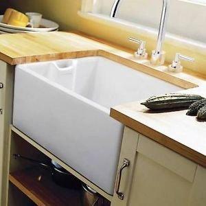 Handles & Ironmongery Rangemaster Classic Belfast Kitchen Sink Ceramic Ccbl995 Waste Worth £25
