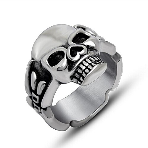 The Ultimate Titanium Stainless Steel Casted Skull Gothic Biker Classic Ring Sizes 7 to 12 (11)