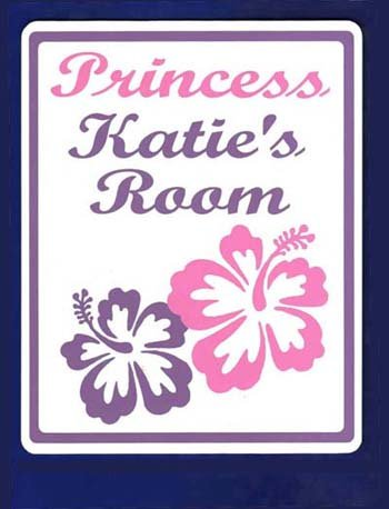 PRINCESS ROOM Girls Bedroom Door SIGN, Personalized