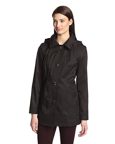 Anne Klein Women's Single-Breasted Turnkey Jacket  [Black]