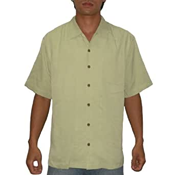 Tommy Bahama Mens Button Down Short Sleeve Silk Camp Shirt