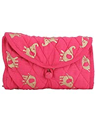 Needlecrest Womens Casual Pouch (Pink Color)