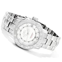 Invicta Womens Pro Diver Date Window Silver Dial Stainless Steel Bracelet Watch 1993