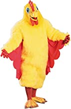 Comical Chicken Costume 1 Size - Comical Chicken Costume 1 Sizeplush Yellow Faux Fur Jumpsuit With R