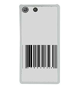 Barcode 2D Hard Polycarbonate Designer Back Case Cover for Sony Xperia M5 Dual :: Sony Xperia M5 E5633 E5643 E5663
