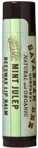 Savannah Bee Company Certified Organic Mint Julep Lip Balm, 0.15-Ounce (Pack of 4) (Savannah Honey Bee Company compare prices)