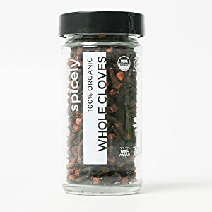 Spicely Organic Cloves Whole - Glass Jar