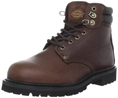 "Dickies Men's Raider 6"" Leather Work Boot,Briar Brown,7 M US"