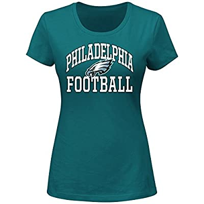 NFL Philadelphia Eagles Short Sleeved Scoop Neck Tee, 4X, Dark Green