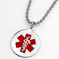 Sterling Silver Medical Alert Pendant or Charm 3/4 Inch by StickyJ