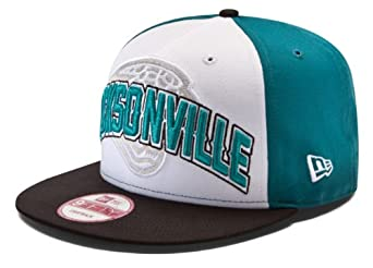 NFL Jacksonville Jaguars Draft 9Fifty Snapback Cap, Teal White Black, One Size Fits... by New Era