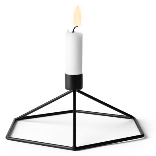 Menu 4767539 Tisch-Kerzenhalter POV, 8 x 21 x 18,5 cm, schwarz