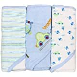 Spasilk Soft Terry Hooded Towel Set, Blue Plane, 3-Count