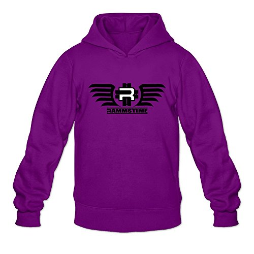 Crystal Men's Rammstein Logo Long Sleeve Hoodie Hooded Purple US Size S (Brad And Taylor Knife Sharpener compare prices)