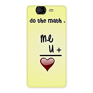Cute Love Maths Back Case Cover for Canvas Knight A350