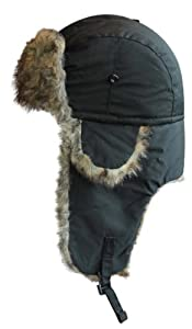SUPERB QUALITY UNISEX WATERPROOF TRAPPER HAT AVAILABLE IN 7 COLOURS (BLACK)