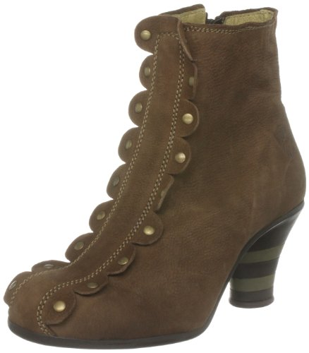 Fly London Women's Potts Leather Suede Brown Heels P141960002 5 UK