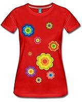 Spreadshirt Damen Flower Power T-Shirt