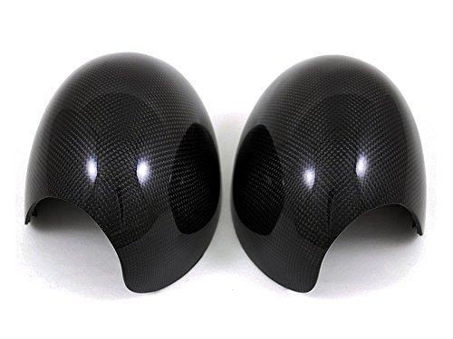AutoTecknic Replacement Carbon Fiber Mirror Covers - MINI Cooper R55/ R56/ R57/ R58/ R59/ R60/ R61 (R56 Mini Cooper Accessories compare prices)