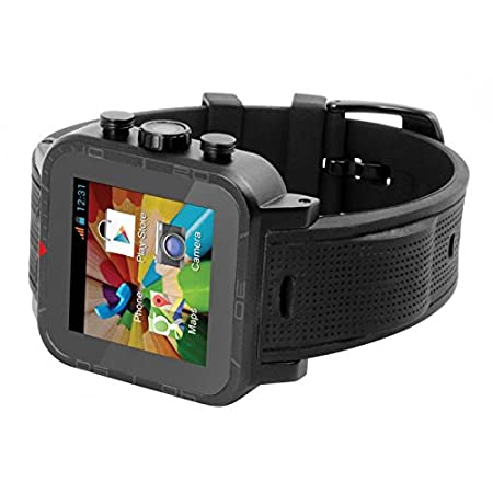 Iconbit NT-1502C CALLISTO 300B 3,9 cm (1,5'') Smartwatch (Dual-Core processeur, 1,1GHz, 1Go RAM, 16Go HDD, Ecran tactile, Bluetooth, 3G, GPS, Android) Noir