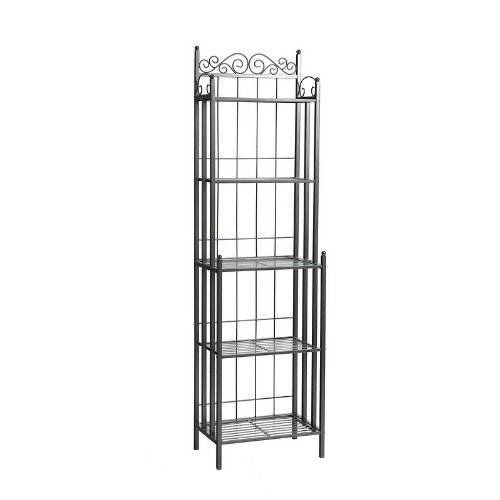 Celtic Bakers Rack in Gray Finish Southern Enterprises KA9801