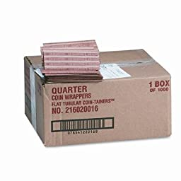 Pop-Open Flat Paper Coin Wrappers, 1000 Wrappers/Box [Set of 2]