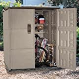 """Rubbermaid RHP3673, Roughneck Modular Large Vertical Double Deep Outdoor Storage Shed, 66"""" w x 72"""" d x 78"""" h (RHP3673) Category: Rubbermaid Sheds"""
