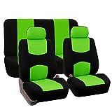 FH-FB050112 Flat Cloth Car Seat Covers Green / Black Color