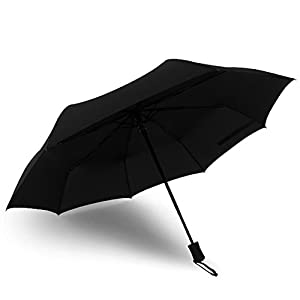 BOGZON Novelty Full-automatic Rain Umbrella & Parasol - Windproof & Foldable Sunshade, Auto Open / Close, Black