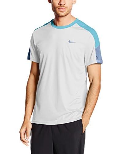 Nike T-Shirt Manica Corta Team Court Crew [Nero/Grigio]