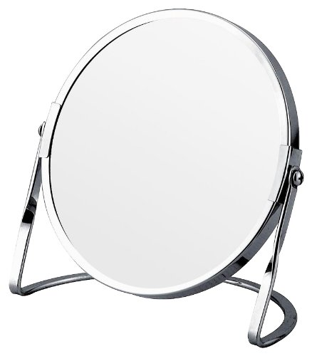 Euroshowers Stainless Steel Free Standing Vanity Mirror With 3X Magnification