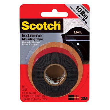 Scotch 414P 1 By 60-Inch Extreme Mounting Tape