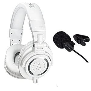 Audio-Technica ATH-M50xWH Professional Studio Monitor Headphones With in line mic