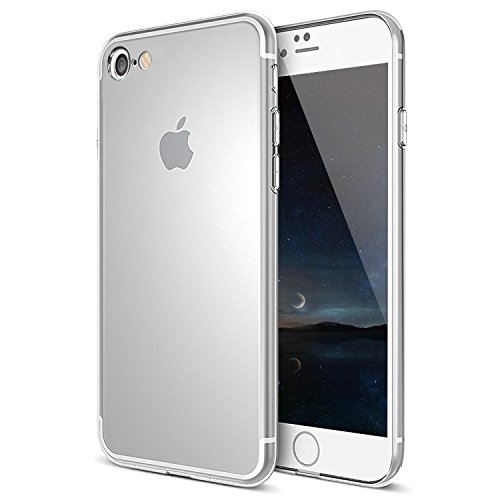 Coque iPhone 7, MTURE Bumper Cover iPhone 7 Crystal Clear Housse Etui Gel TPU Silicone Clair Transparente Ultra Mince Ultra Léger Case pour iPhone 7