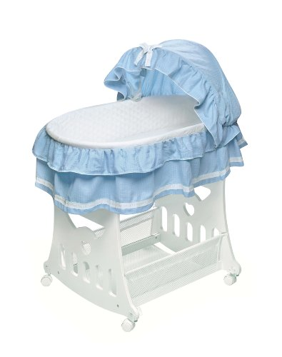 Badger basket portable bassinet n cradle with toybox base Portable bassinet