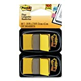 Post-it Flags 680YW2 - Standard Tape Flags in Dispenser, Yellow, 100 Flags/Dispenser-MMM680YW2