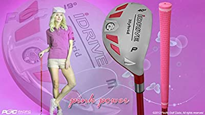 """Petite Women's iDrive Golf Club Hybrid Pitching Wedge (PW) Lady Flex Right Handed New Rescue Utility """"L"""" Flex Club Perfect for Petite Shorter Women 4'10 to 5'3"""" Tall"""